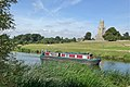 Fotheringhay Northamptonshire. Narrow boat on River Nene - panoramio.jpg