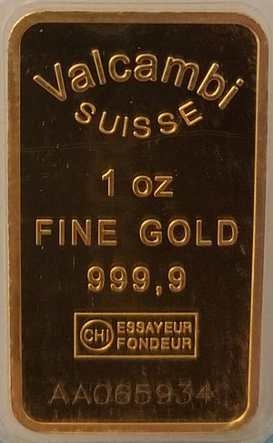 Nine (purity) - 1 troy ounce of four nines fine gold (999.9)