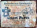 Fournitures Generales pour Cycles et Machines a Coudre, Albert Papin advertising sign.JPG