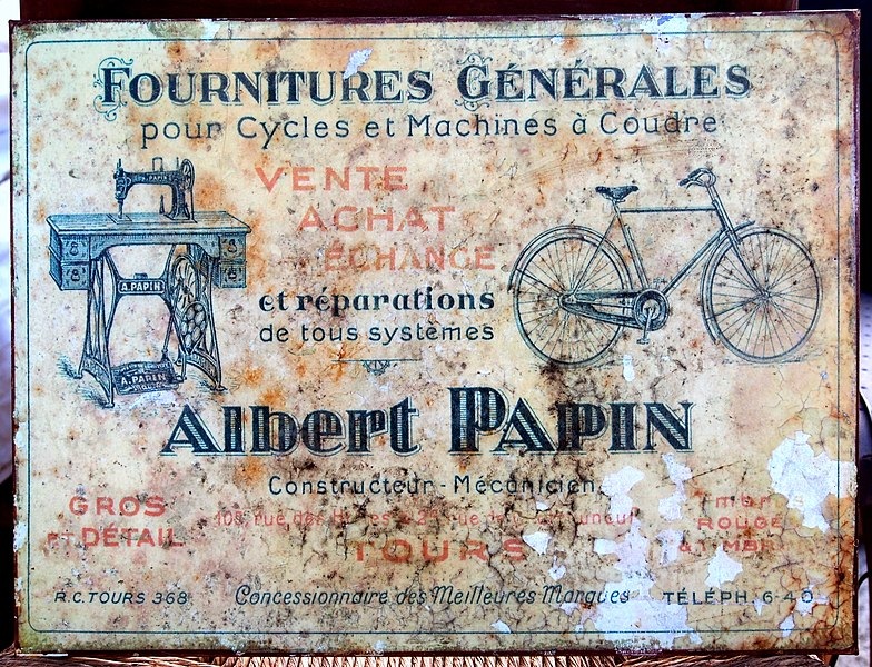 File fournitures generales pour cycles et machines a for Machine a coudre 784