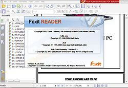 Foxit Reader 4.3 Windows XP:ssä