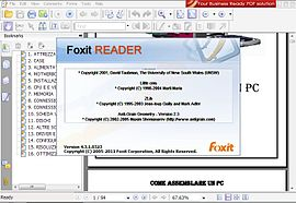 Screenshot di Foxit Reader