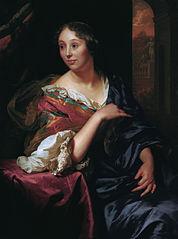Portrait of Françoise van Diemen, wife of Godfried Schalcken