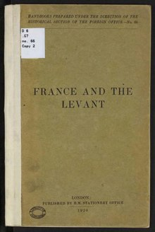 France and the Levant peace conference 1920.djvu
