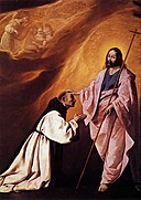 Francisco de Zurbarán - Vision of Brother Andrés Salmerón - WGA26065.jpg