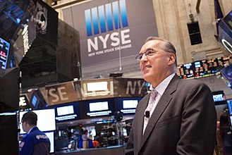 Frank E. Holmes - Frank Holmes visiting the New York Stock Exchange in April 2015 for the launch of the U.S. Global Jets ETF (JETS).