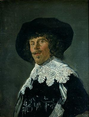 Portrait of a Man in a Yellowish-Gray Jacket - Image: Frans Hals portrait of a man in a black jacket c 1633