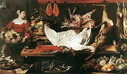 Frans Snyders, The Pantry, c. 1620. Frans SNYDERS, The Pantry.JPG