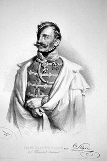 Franz Graf Schlik, Lithographie von Josef Kriehuber, 1849 (Quelle: Wikimedia)