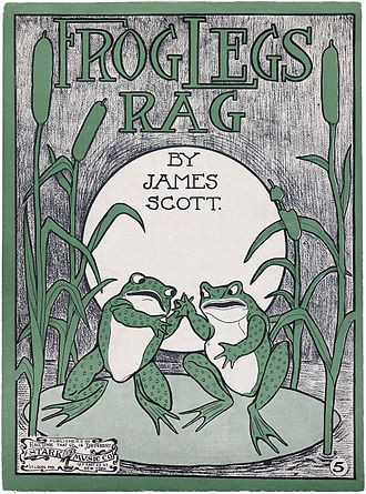 "1906 in music - ""Frog Legs Rag"" by James Scott."