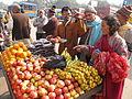 Fruits Stall - Gangasagar Fair Transit Camp - Kolkata 2012-01-14 0848.JPG