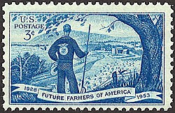 Commemorative Future Farmers of America stamp issued in 1953