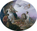 Görlich - Allegory on the betrothal of Crown Prince Rudolf and Stephanie of Belgium.jpg