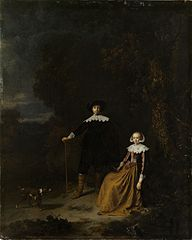 Portrait of a Couple in a Landscape