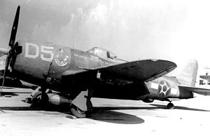 "World War II by country - P-47s carried the ""Senta a Pua!"" emblem as nose art along with the national insignia of Brazil"