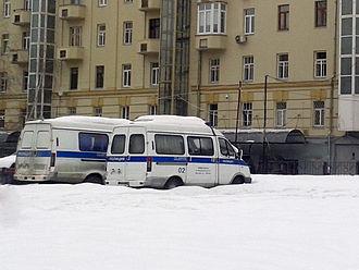 "GAZ Sobol - Image: GAZ 22171 ""Sobol"" and GAZ 3221 ""GA Zelle"" as a Police cars (rear view)"