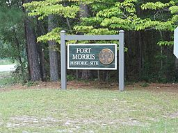 GA Seabrook Fort Morris sign01