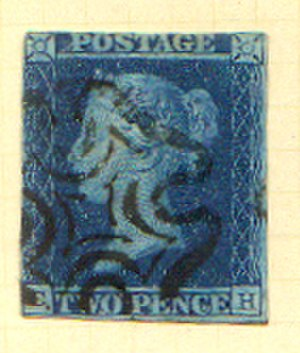 Two penny blue - Image: GB 2d Blue Postage Stamp