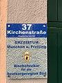 """GER — BY — München — Kirchenstr. 37 (Schild """"Erzbistum München u. Freising · Bischofsvikar für die Seelsorgeregion Süd"""") 2020.JPG"""