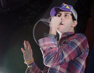 Cobra Starship - Gabe Saporta performing on November 28, 2009.