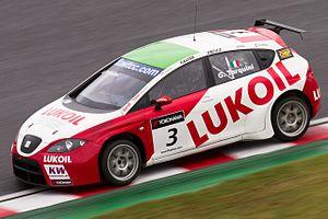 Gabriele Tarquini - Tarquini driving for Lukoil-SUNRED at Suzuka in the 2011 WTCC season.