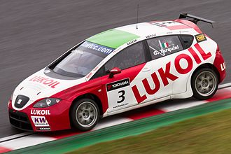 Gabriele Tarquini - Tarquini driving for Lukoil-SUNRED at Suzuka in the 2011 WTCC season.