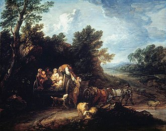 The Harvest Wagon - Image: Gainsborough Harvest Wagon 1784