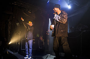 Oh No (musician) - Oh No (right) performing with The Alchemist in March 2014