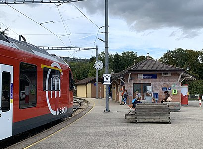 Comment aller à Gare de Genolier en transport en commun - A propos de cet endroit