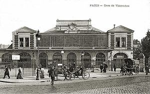 Gare de la Bastille - La Bastille Station in Paris, early 20th century.