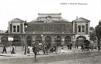 Gare de la Bastille - La Bastille Station in Paris, early 20th century.