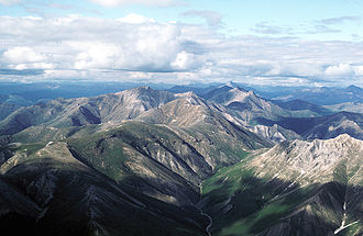 Gates of the Arctic National Park and Preserve - Aerial view of mountains in summer