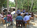 Gathering in a meeting of villagers in an Bangladeshi village 2015 11.jpg