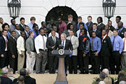 2006 football team at the White House.