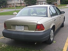 1996 - 1999 Saturn SL photographed in Sault Ste. Marie, Ontario, Canada