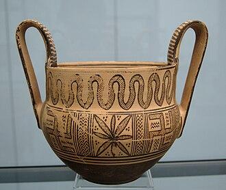 Kantharos - Image: Geometric kantharos Staatliche Antikensammlungen 8501