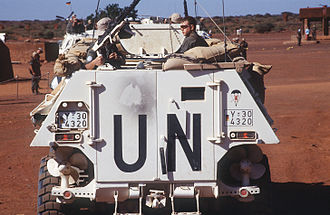 German Army - German Army soldiers from Paratrooper Battalion 261 on board an armoured personnel carrier in Somalia in 1993