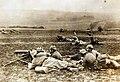 German machine gun detachment creeping into action, May 7, 1915 (30982753741).jpg