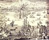 Print of the 1727 Gibraltar Siege