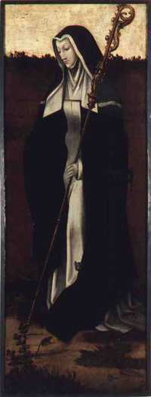 Gertrude of Nivelles - St. Gertrude of Nivelles by an anonymous Flemish painter (ca, 1530)