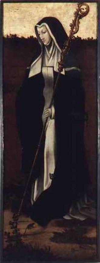 Gertrude of Nivelles - St. Gertrude of Nivelles by an anonymous Flemish painter (ca, 1530)