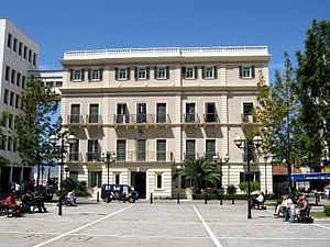 Gibraltar City Hall - Main façade of the Gibraltar City Hall, from John Mackintosh Square.