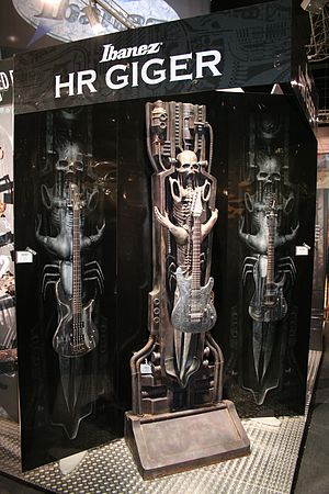 H. R. Giger - Ibanez H. R. Giger signature bass and guitars
