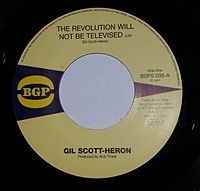 Gill Scott Heron- The Revolution Will Not Be Televised- RCA (Flying Dutchman) 1971