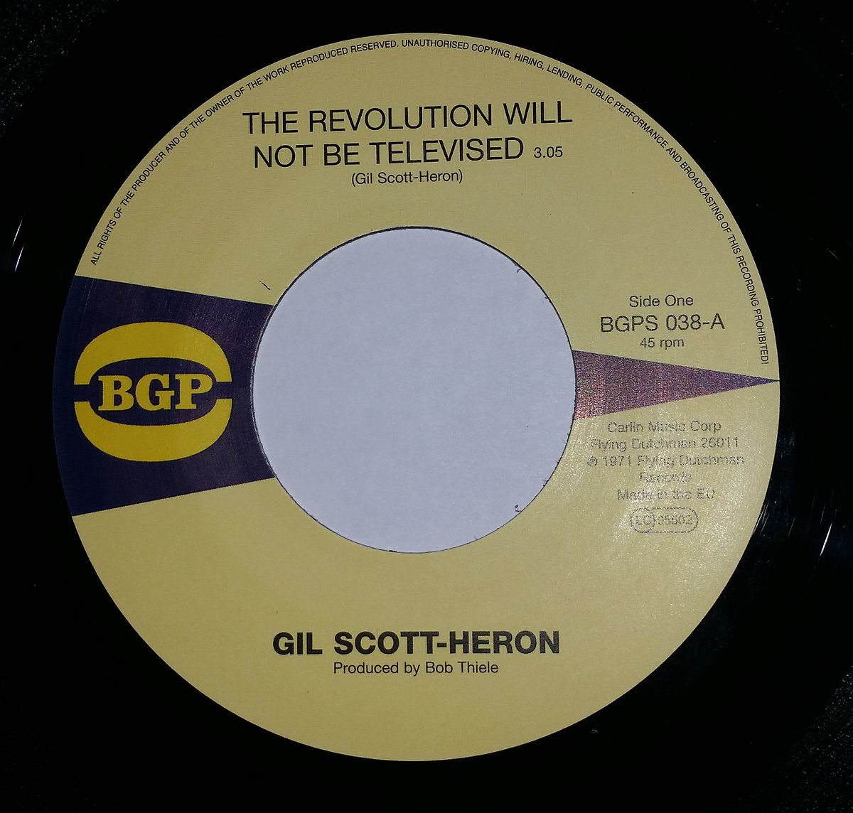 Heron Gil - The Revolution Will Not Be Televised Lyrics