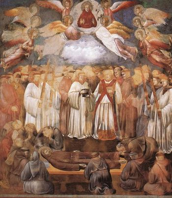 Death and Ascension of St, Francis