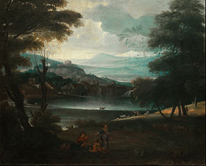 Landscape with resting shepherds