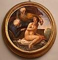 Giovanni da san giovanni, Storie mitologiche e veterotestamentarie, 1634-1635 circa, affresco su stuoia di giunco, susanna e i vecchioni.jpg