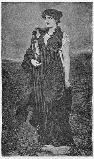 Antigone (Euripides play) - Artistic depiction of Antigone by Emil Teschendorff, by 1883
