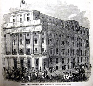 Tremont Street - Image: Gleasons Hall 18oct 1851